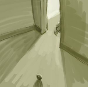 quietly she waits... also side note-first time using open source krita drawing program.
